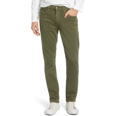 Paige Transcend - Federal Slim Fit Straight Leg Jeans, Green