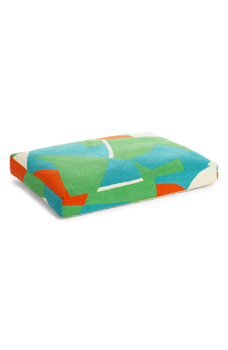 DUSEN DUSEN Terra Embroidered Dog Bed, Main, color, MULTI