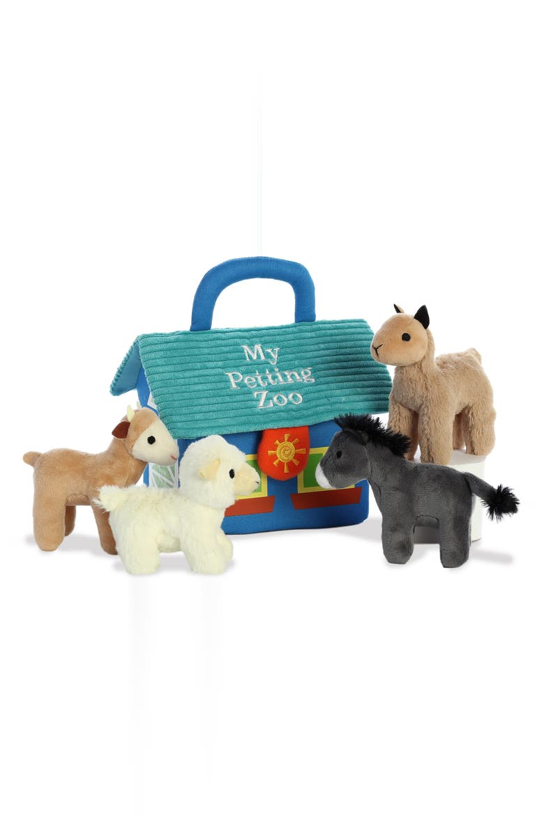 AURORA WORLD TOYS My Petting Zoo Stuffed Play Set, Main, color, MISC