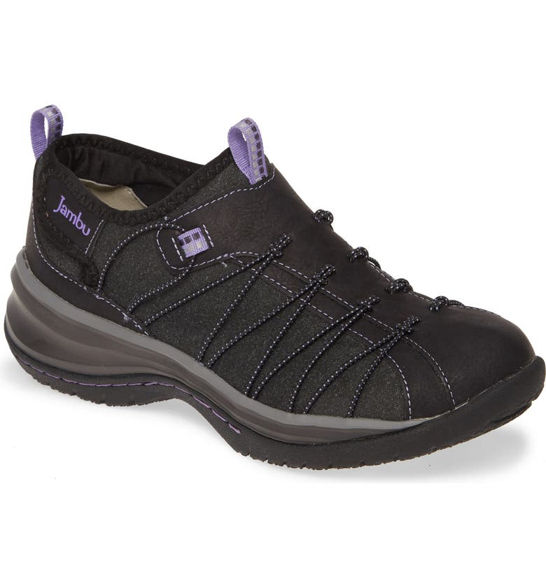 JAMBU Spirit Encore Sneaker, Main, color, BLACK/ VIOLET FAUX LEATHER