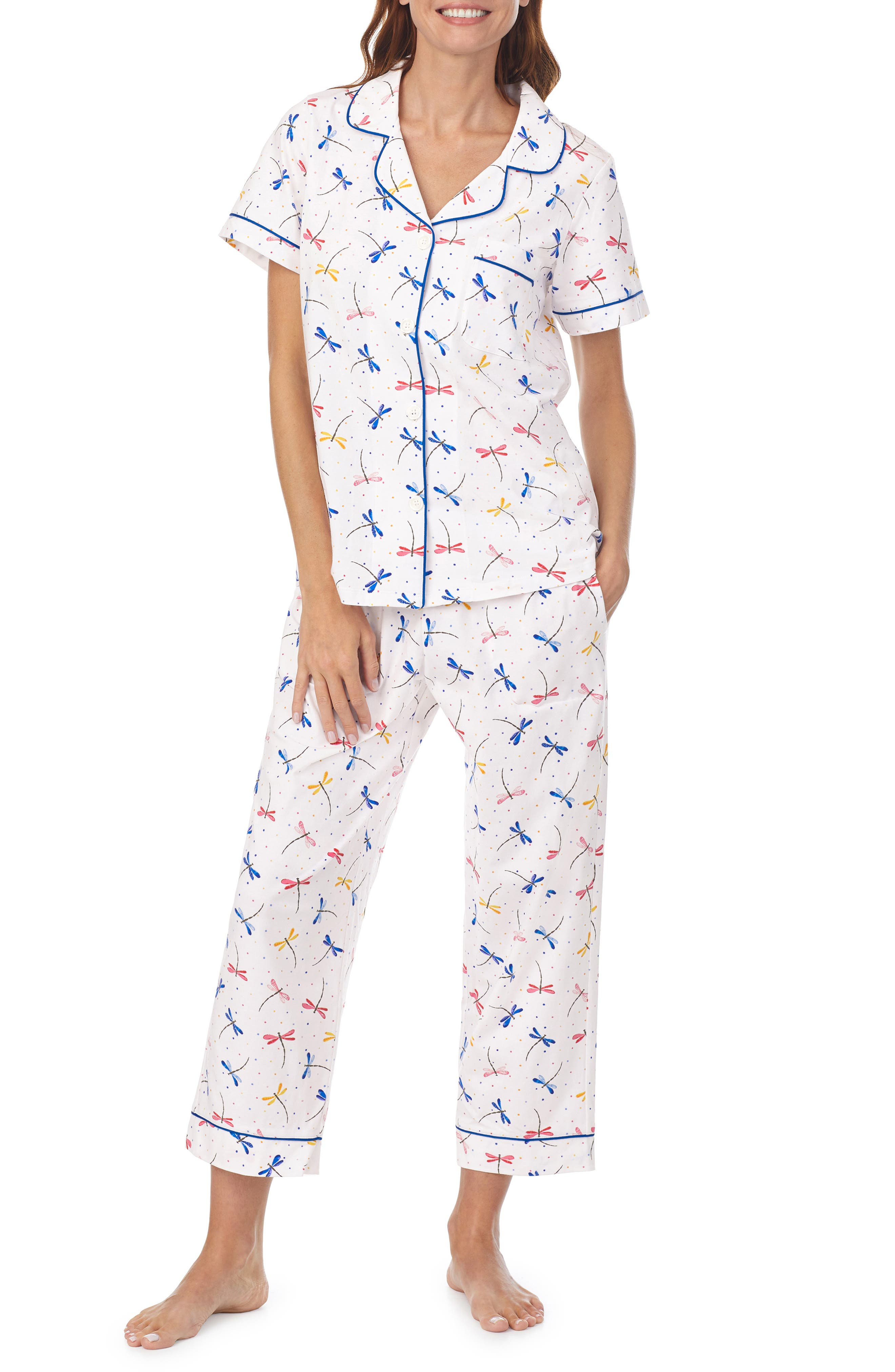 Stretch Organic Cotton Crop Pajamas