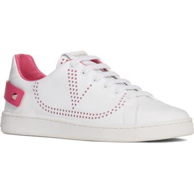 Valentino Garavani Net Perforated Court Sneaker - White