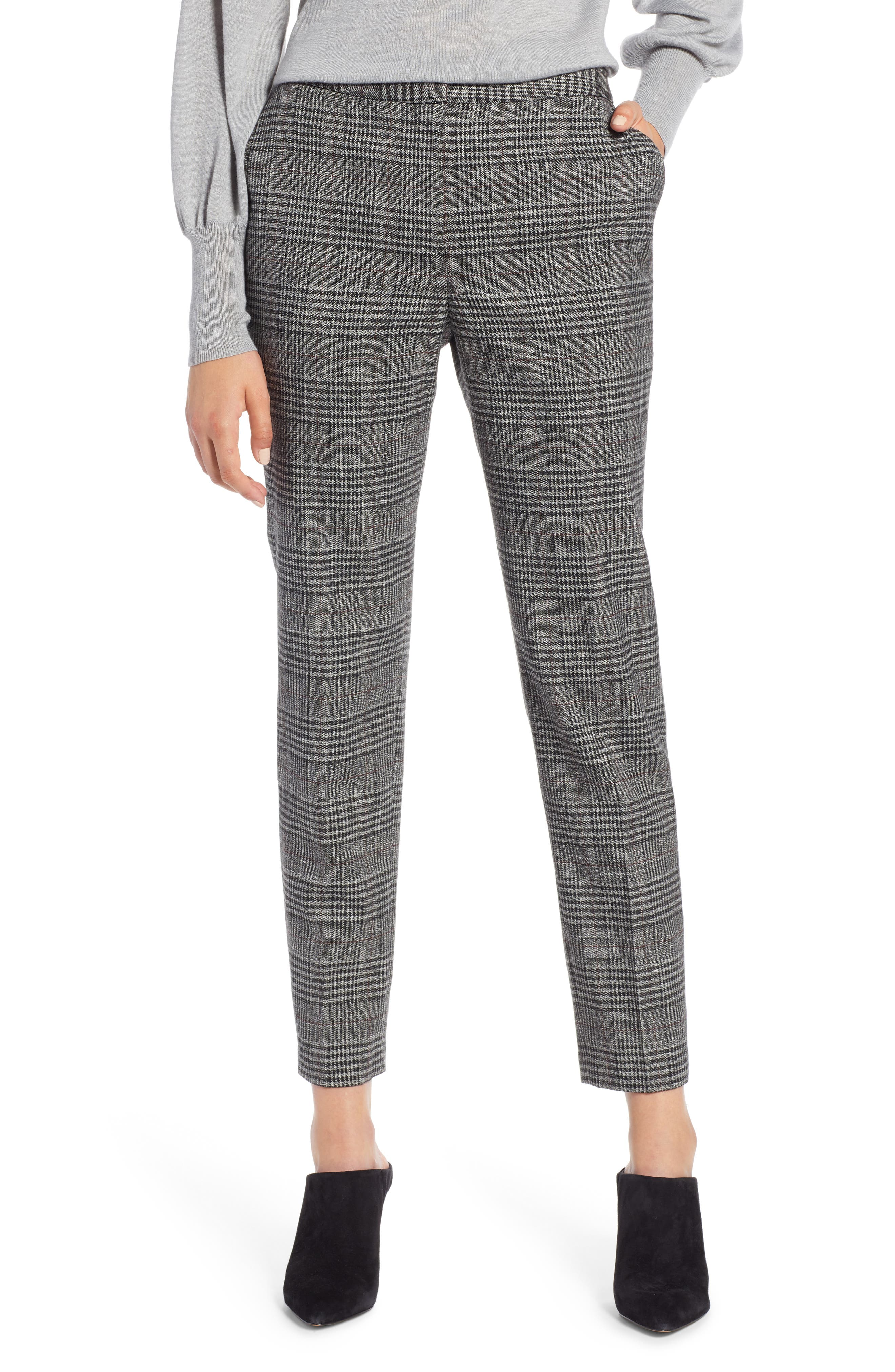 Halogen® Plaid Skinny Pants