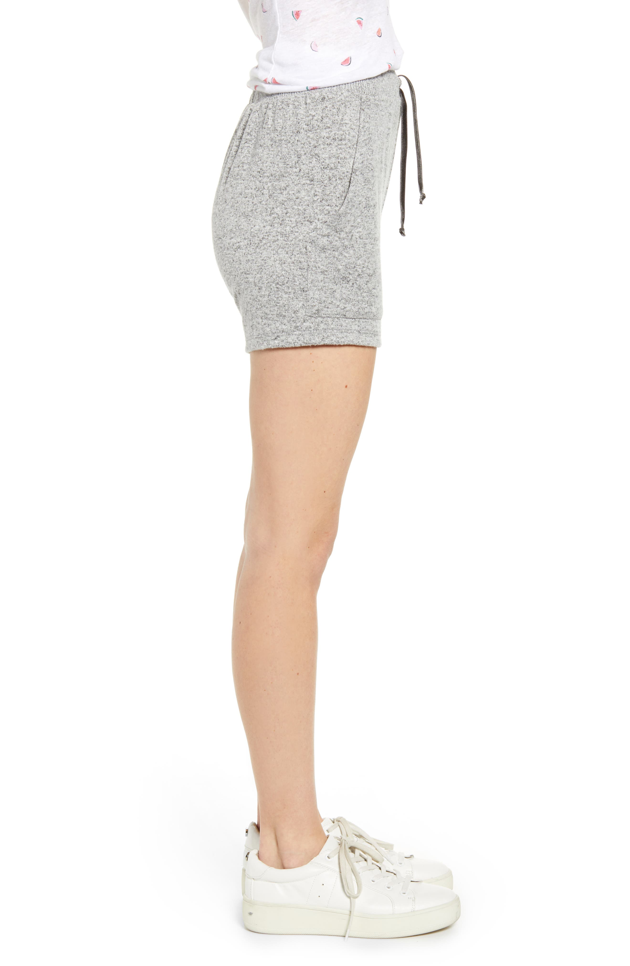 ,                             Robin Drawstring Waist Shorts,                             Alternate thumbnail 4, color,                             MELANGE GREY