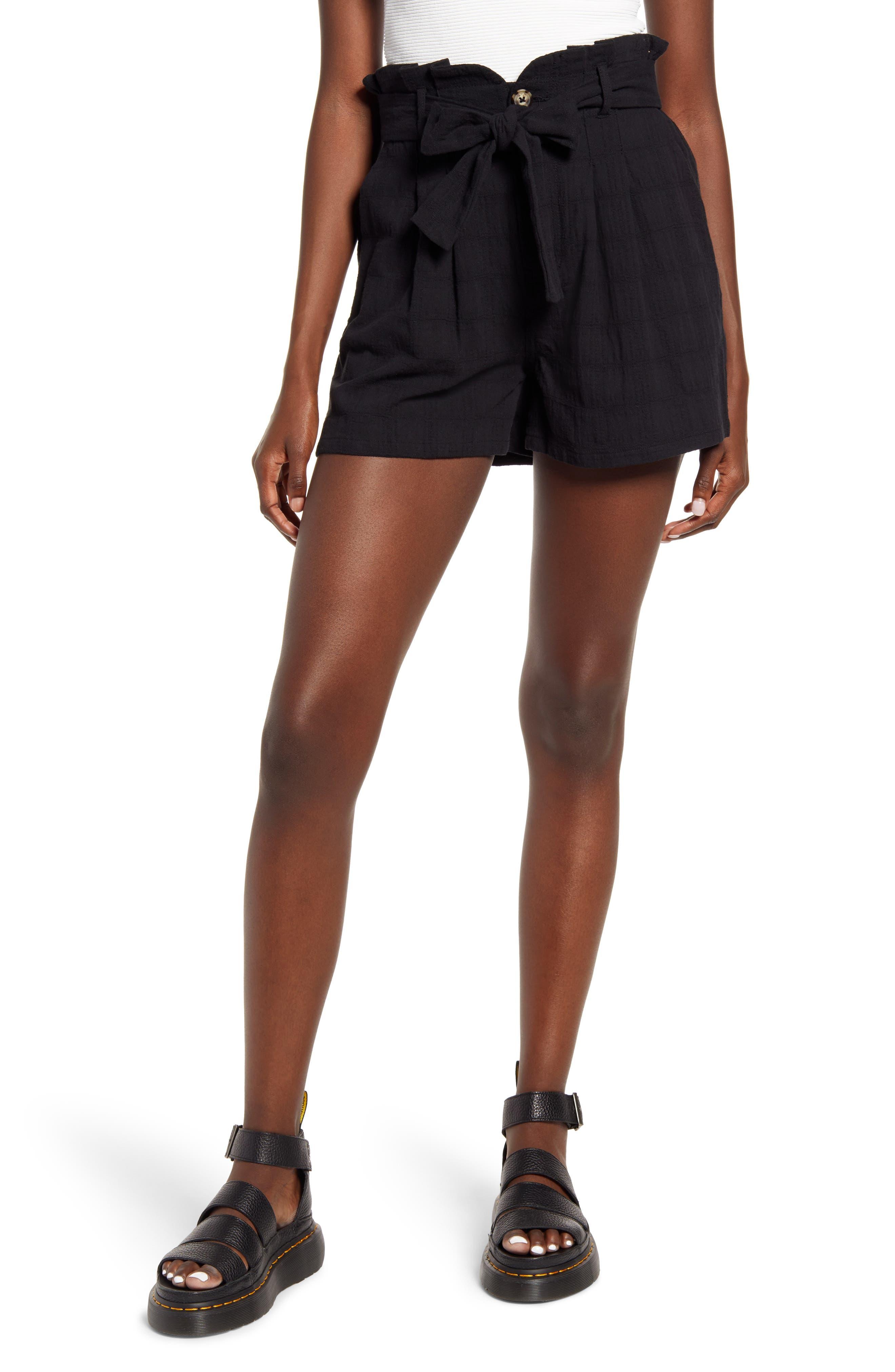 Image of GOOD LUCK GEM High Waist Paperbag Shorts