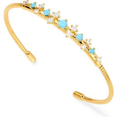 Nadri Stone Accent Flex Cuff Bracelet