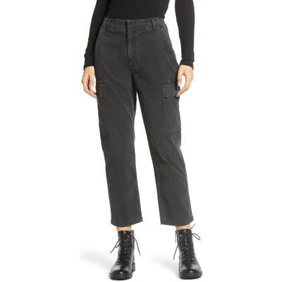 Citizens Of Humanity Gaia Stretch Twill Crop Cargo Pants, Black