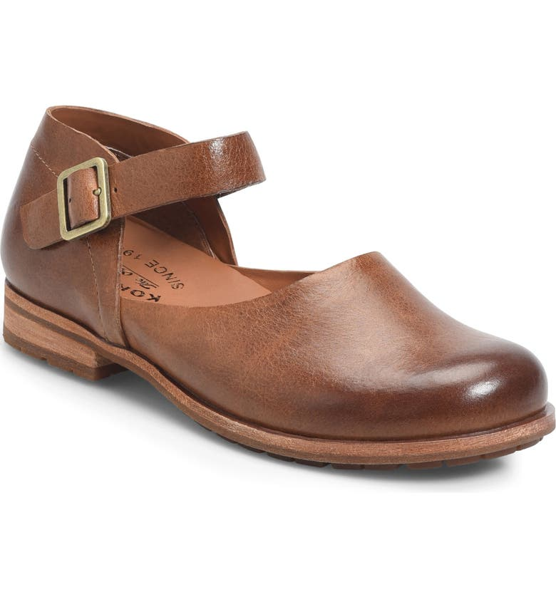 KORK-EASE<SUP>®</SUP> Bellota Mary Jane Flat, Main, color, BROWN LEATHER