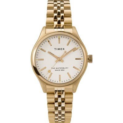 Timex Waterbury Indiglo Heart Bracelet Watch,