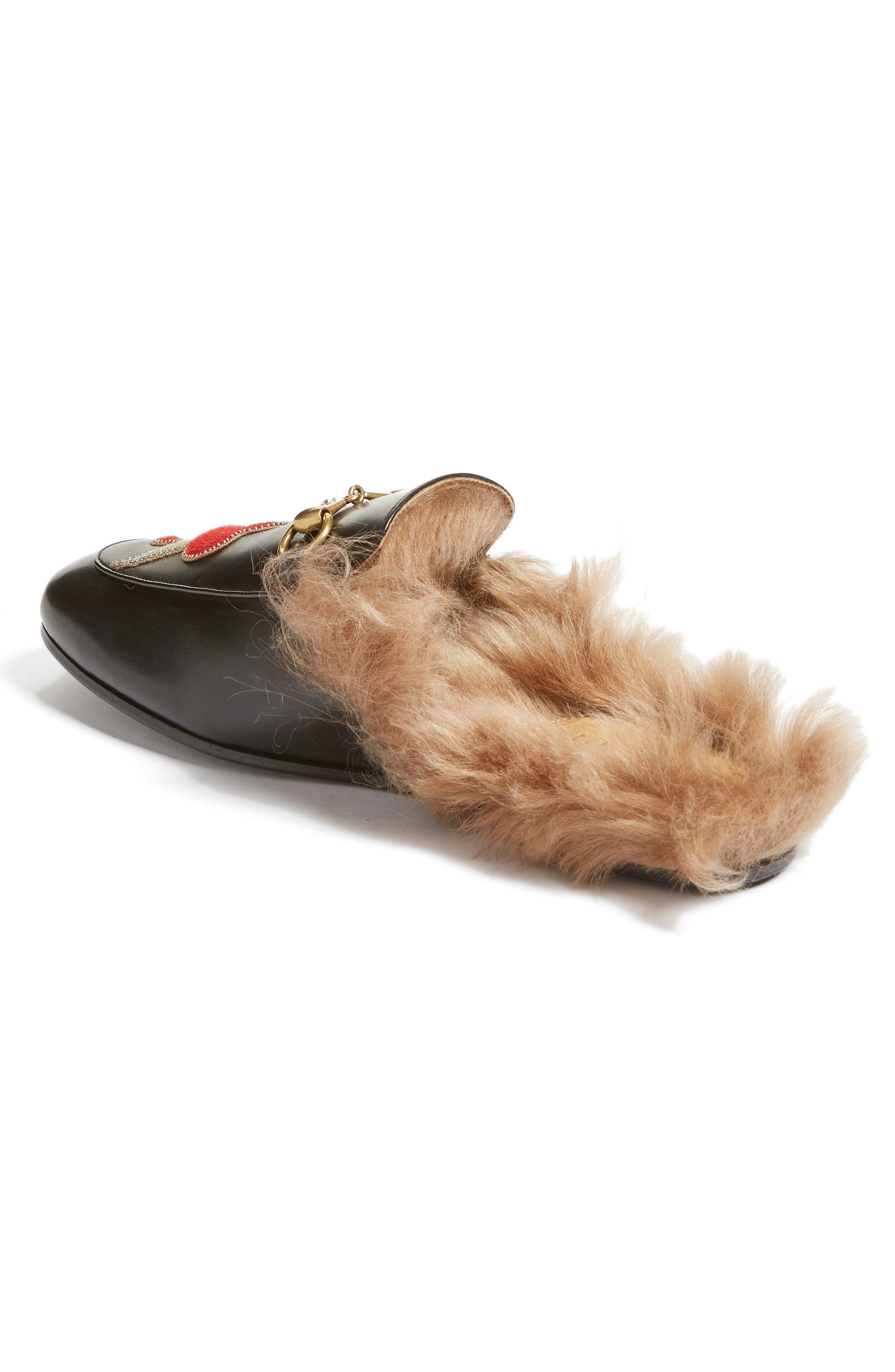 ,                             Princetown Genuine Shearling Lined Mule Loafer,                             Alternate thumbnail 38, color,                             010