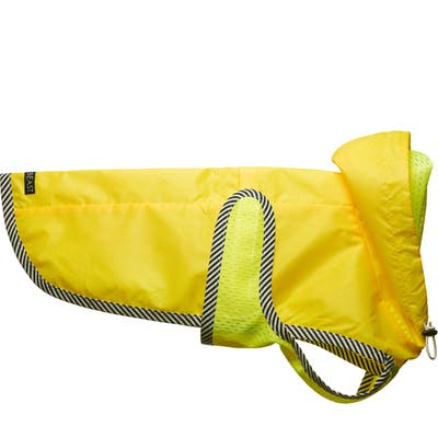 Lovethybeast Neon Yellow Dog Raincoat With Mesh Lining, 0 in - Yellow