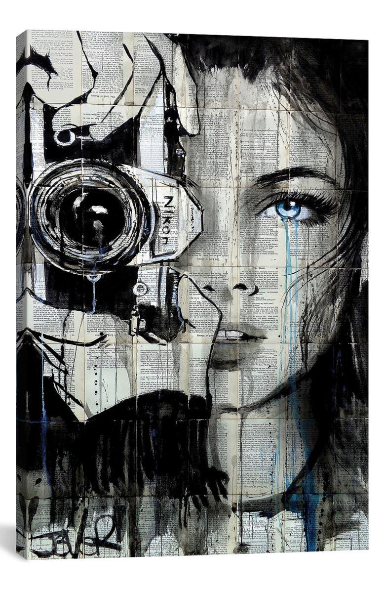 ICANVAS Shootin by Loui Jover Giclée Print Canvas Art, Main, color, BLACK
