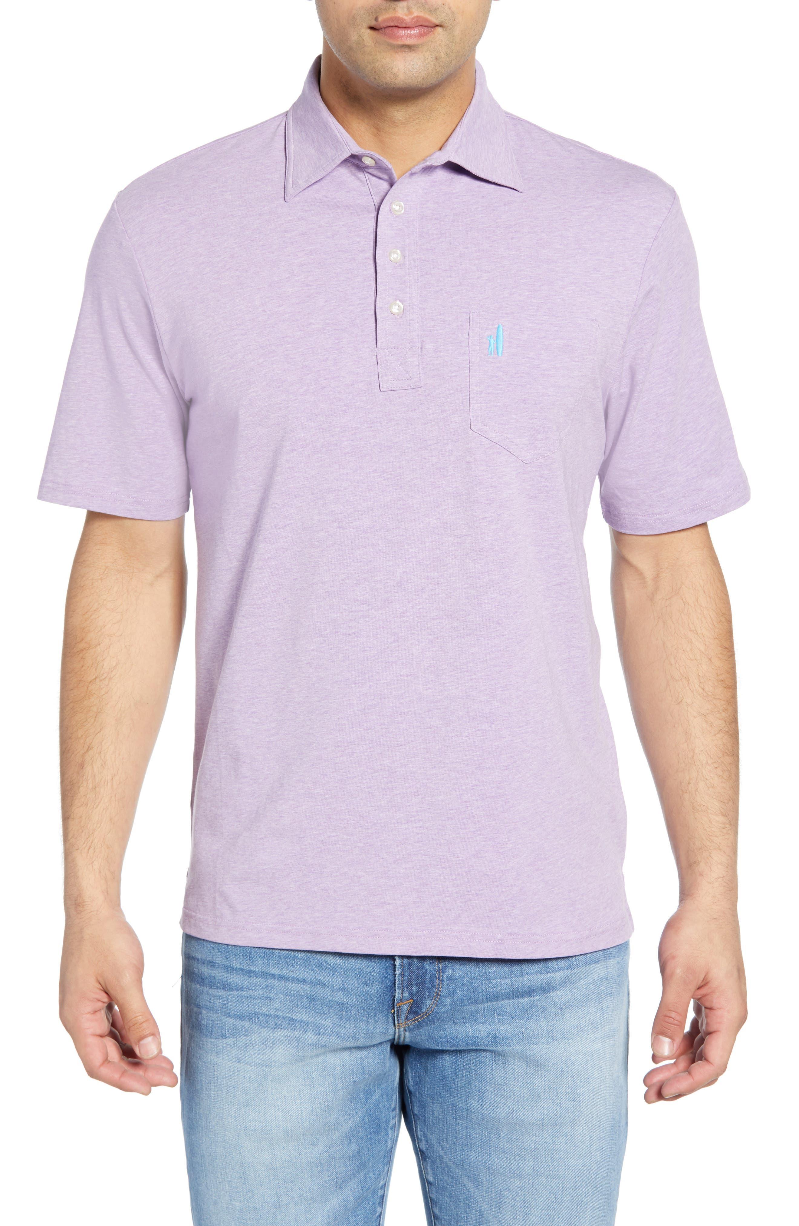 Johnnie-O Heathered Polo, Purple