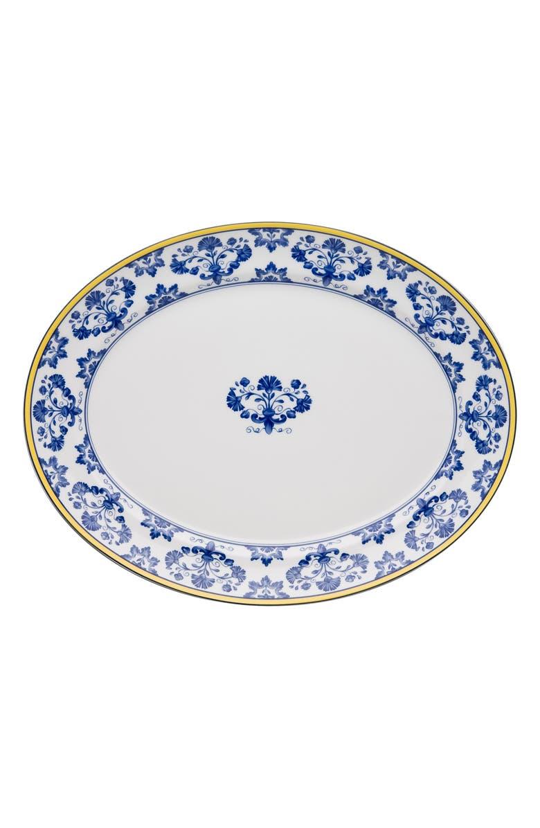 VISTA ALEGRE VistaAlegre Castelo Branco Oval Platter, Main, color, WHITE