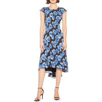 Parker Marcella Floral Print Dress, Blue