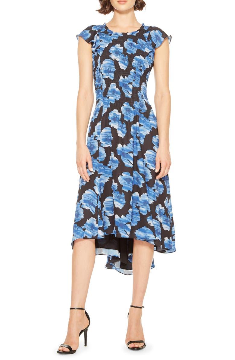 PARKER Marcella Floral Print Dress, Main, color, 400