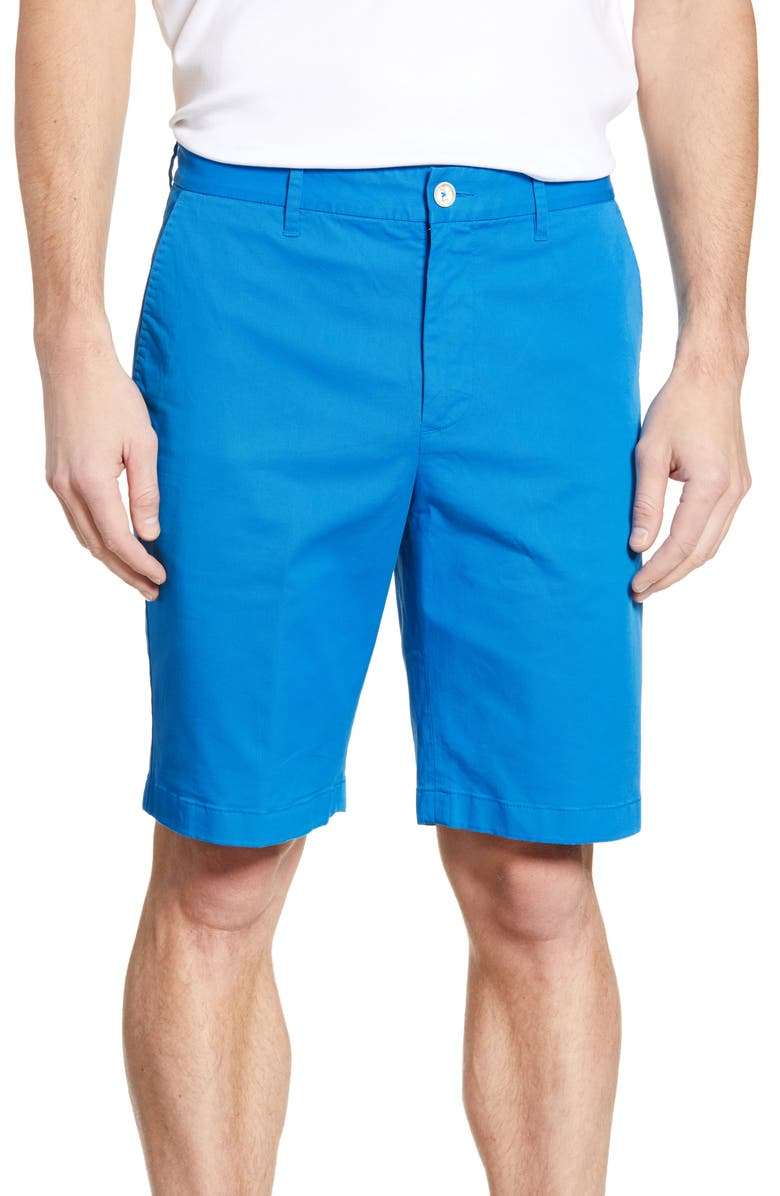 ROBERT GRAHAM Aldrich Chino Shorts, Main, color, MEDIUM BLUE