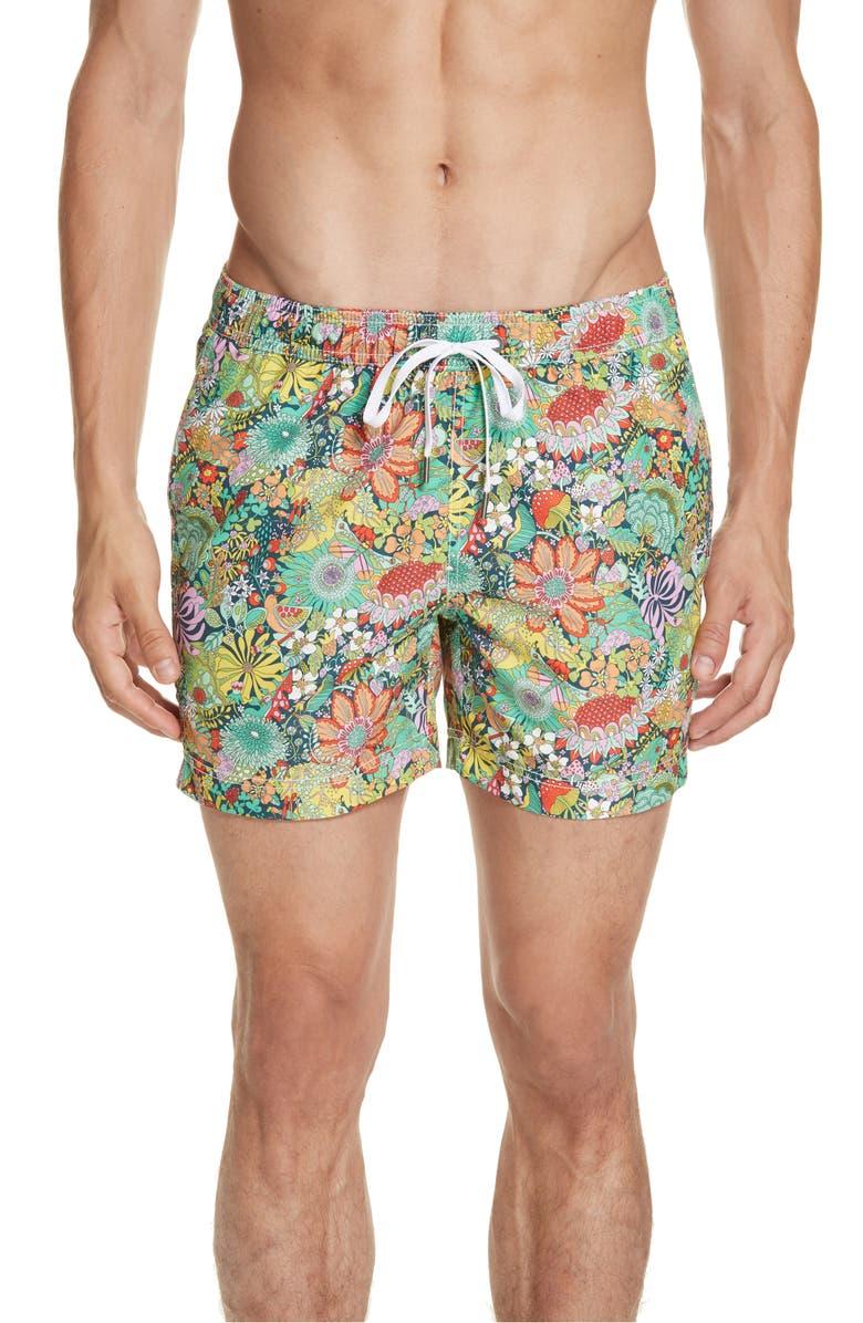 af6ba9c3af Charles Mushroom Print Swim Trunks, Main, color, MULTI