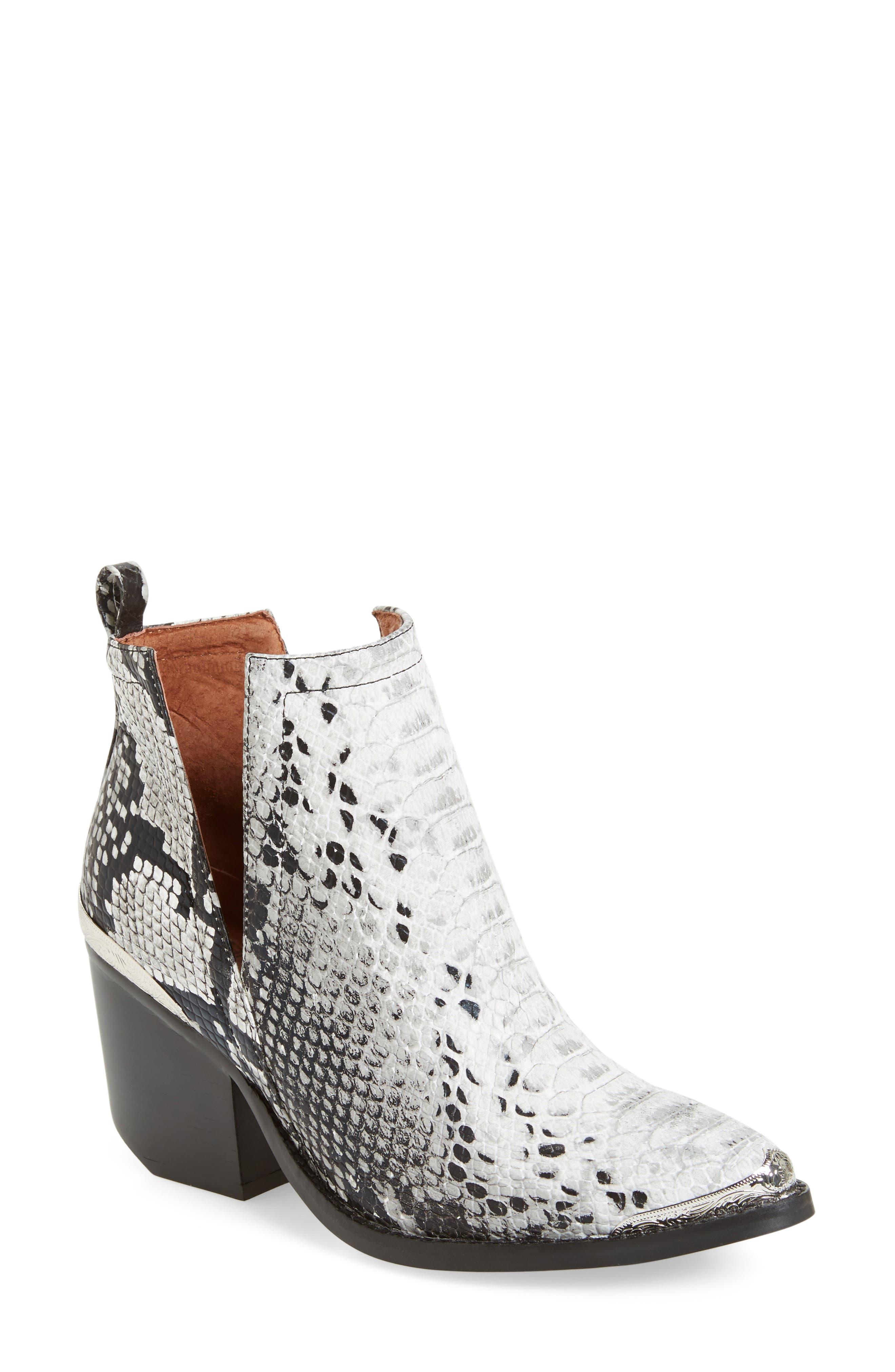 Jeffrey Campbell Cromwell Cutout Western Boot, White