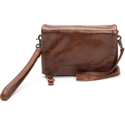 Frye Melissa Stadium Leather Convertible Crossbody Bag - Brown