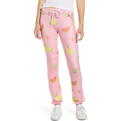 Wildfox Tutti Fruity Echo Print Sweatpants, Pink