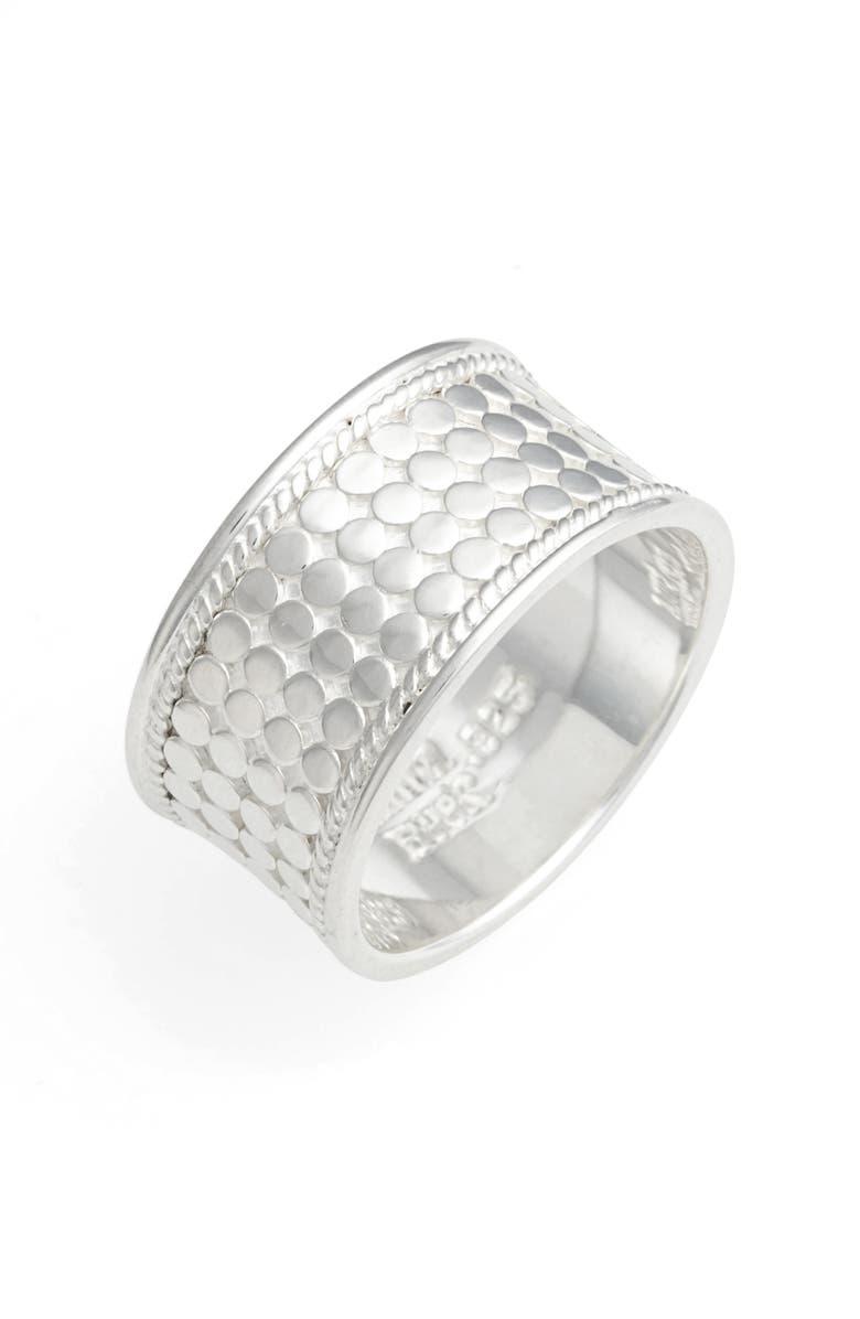ANNA BECK Band Ring, Main, color, SILVER