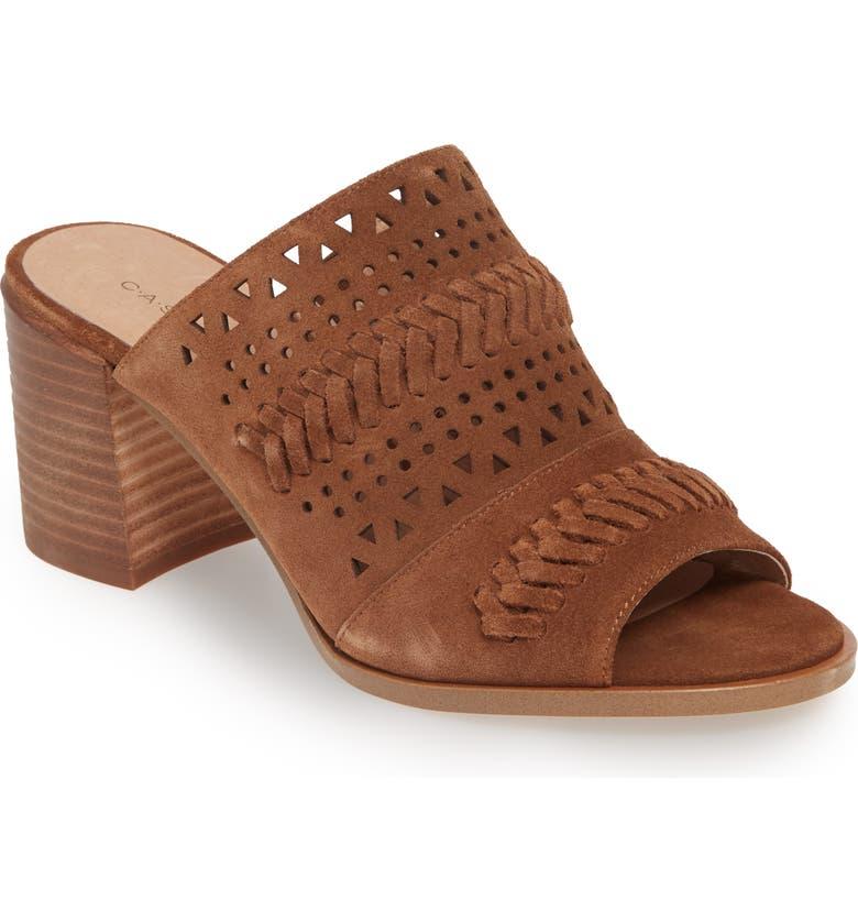CASLON<SUP>®</SUP> Maggie Slide Sandal, Main, color, COGNAC SUEDE
