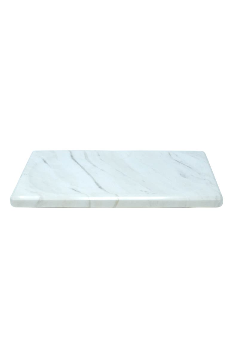 WATERWORKS STUDIO Luna White Marble Tray, Main, color, WHITE