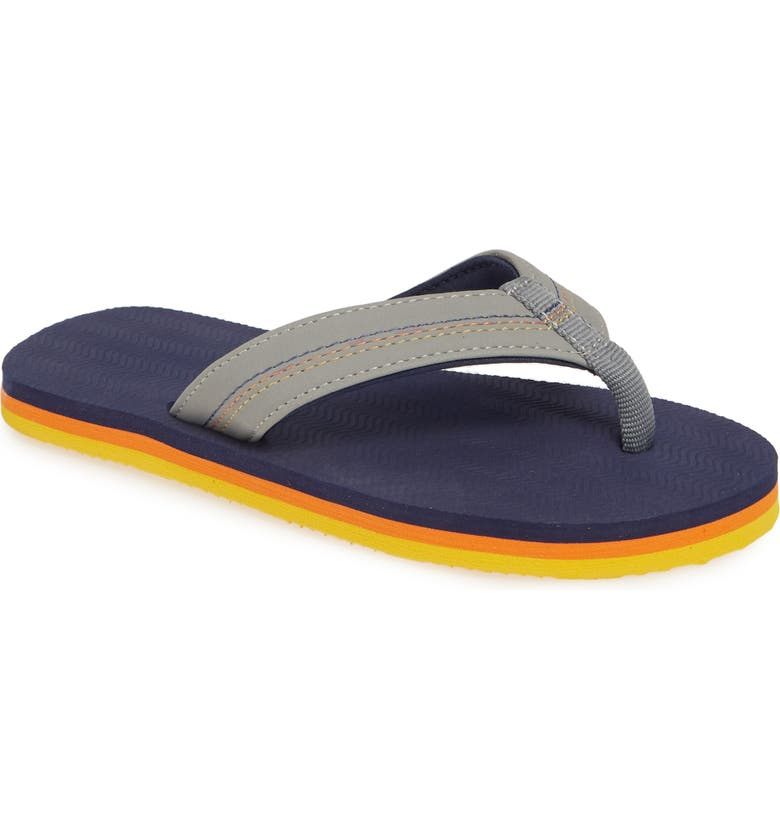 HARI MARI Brazos Flip Flop, Main, color, GRAY/ NAVY