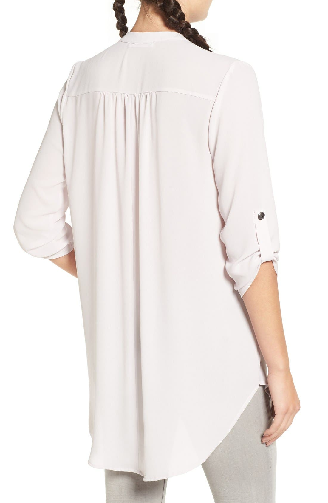 ,                             Perfect Roll Tab Sleeve Tunic,                             Alternate thumbnail 190, color,                             020