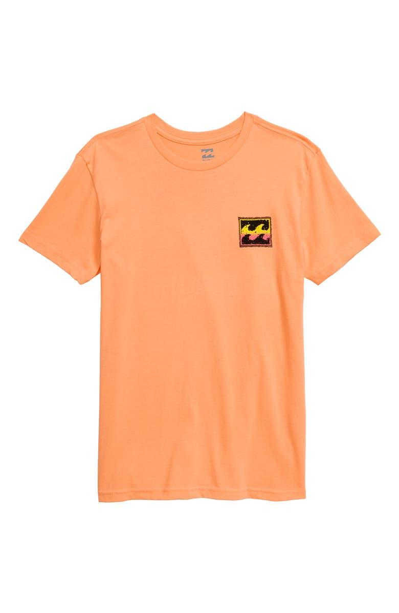 BILLABONG Fifty Wave Graphic T-Shirt, Main, color, CANTALOUPE