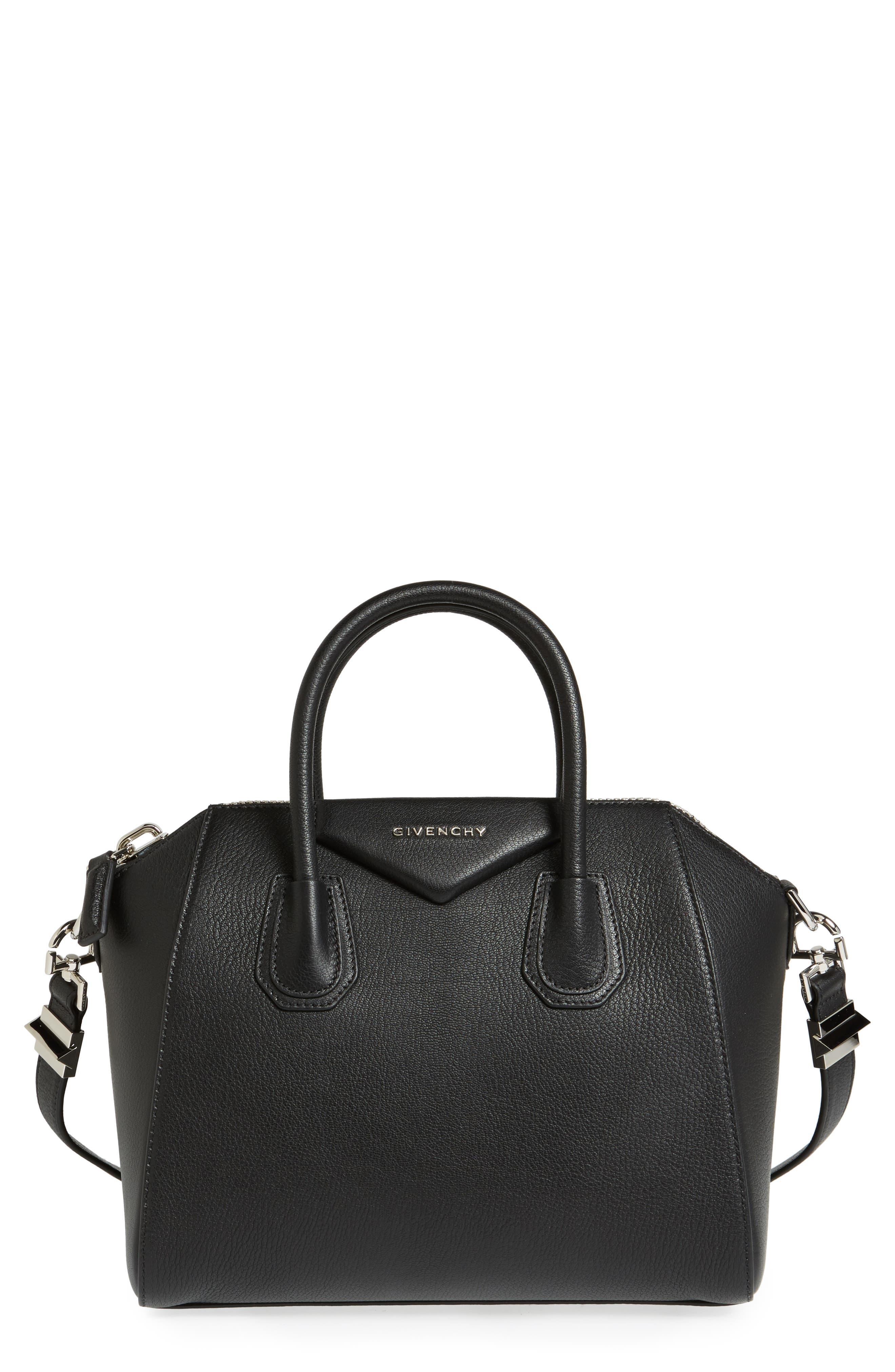Givenchy Small Antigona Leather Satchel - Black