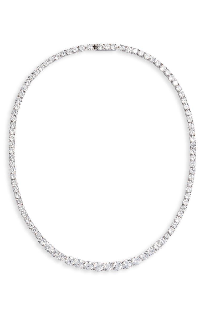 NORDSTROM Graduated Cubic Zirconia Collar Necklace, Main, color, 040