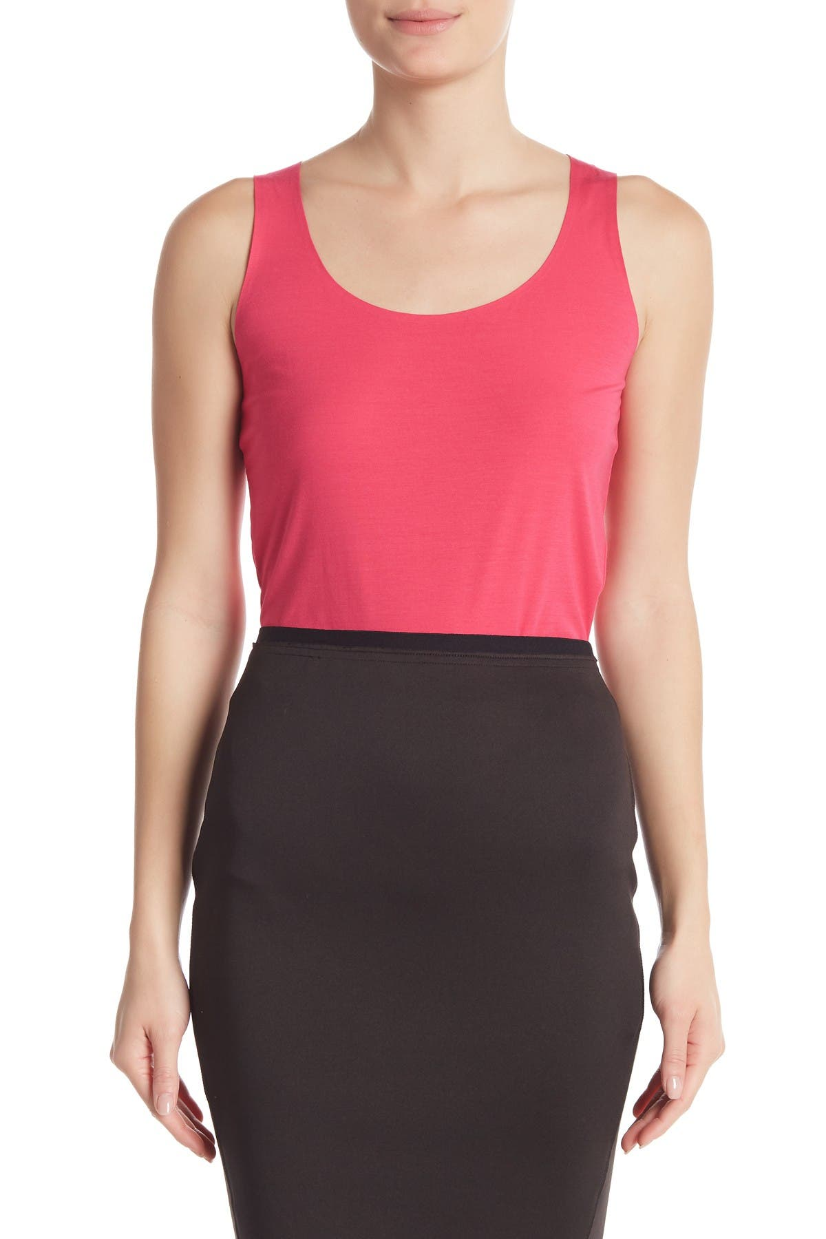 Image of WOLFORD Scoop Neck Knit Tank Top
