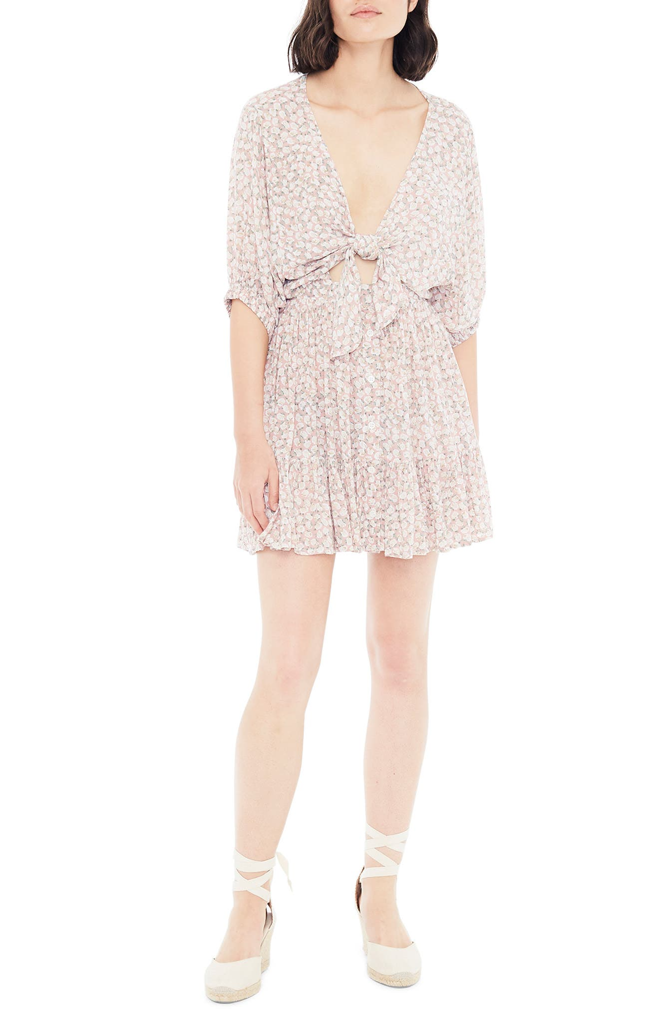 Faithfull The Brand Dresses Marigot Tie Front Minidress