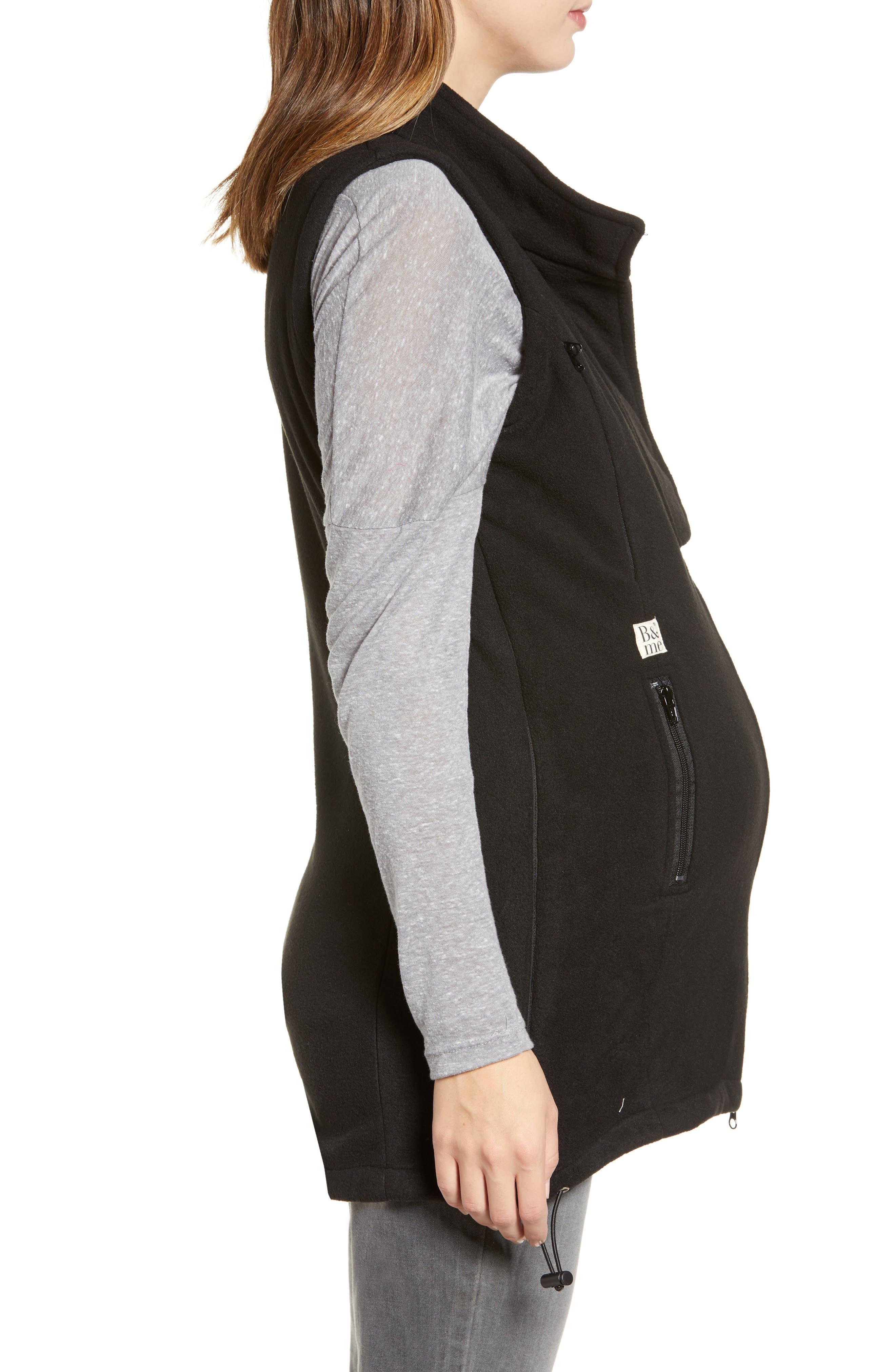 ,                             Booker Maternity Vest,                             Alternate thumbnail 3, color,                             BLACK