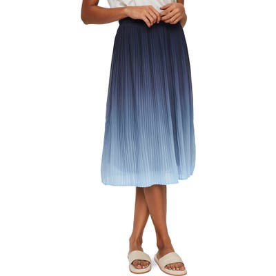 Vero Moda Luna Pleat Skirt, Blue