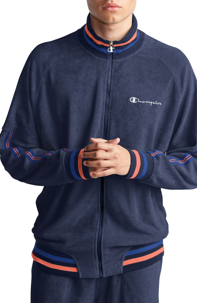 CHAMPION Terry Track Jacket, Main, color, IMPERIAL INDIGO