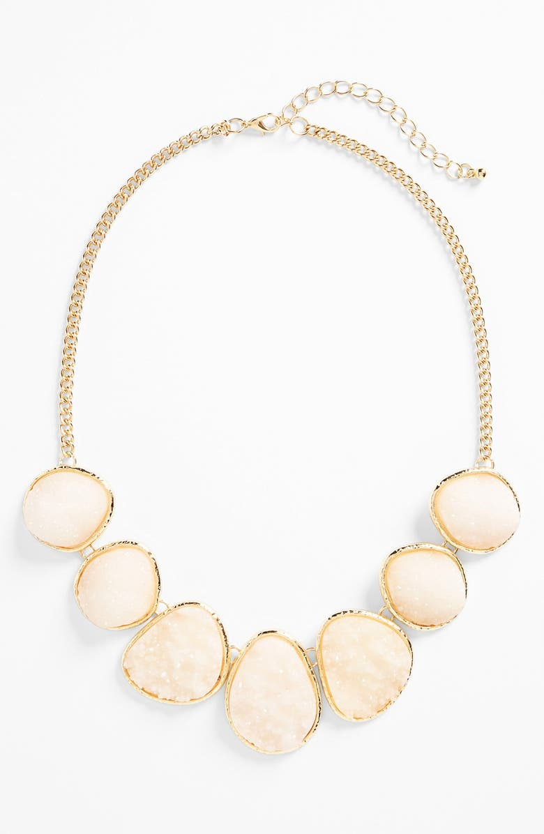 STEPHAN & CO. Glitter Stone Necklace, Main, color, 710
