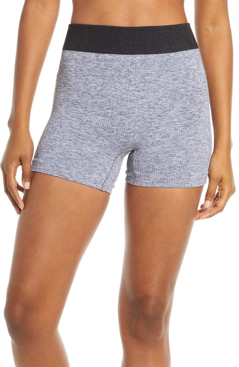FREE PEOPLE MOVEMENT Seamless Shorts, Main, color, LIGHT GREY