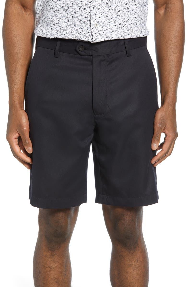 BUGATCHI Solid Shorts, Main, color, BLACK