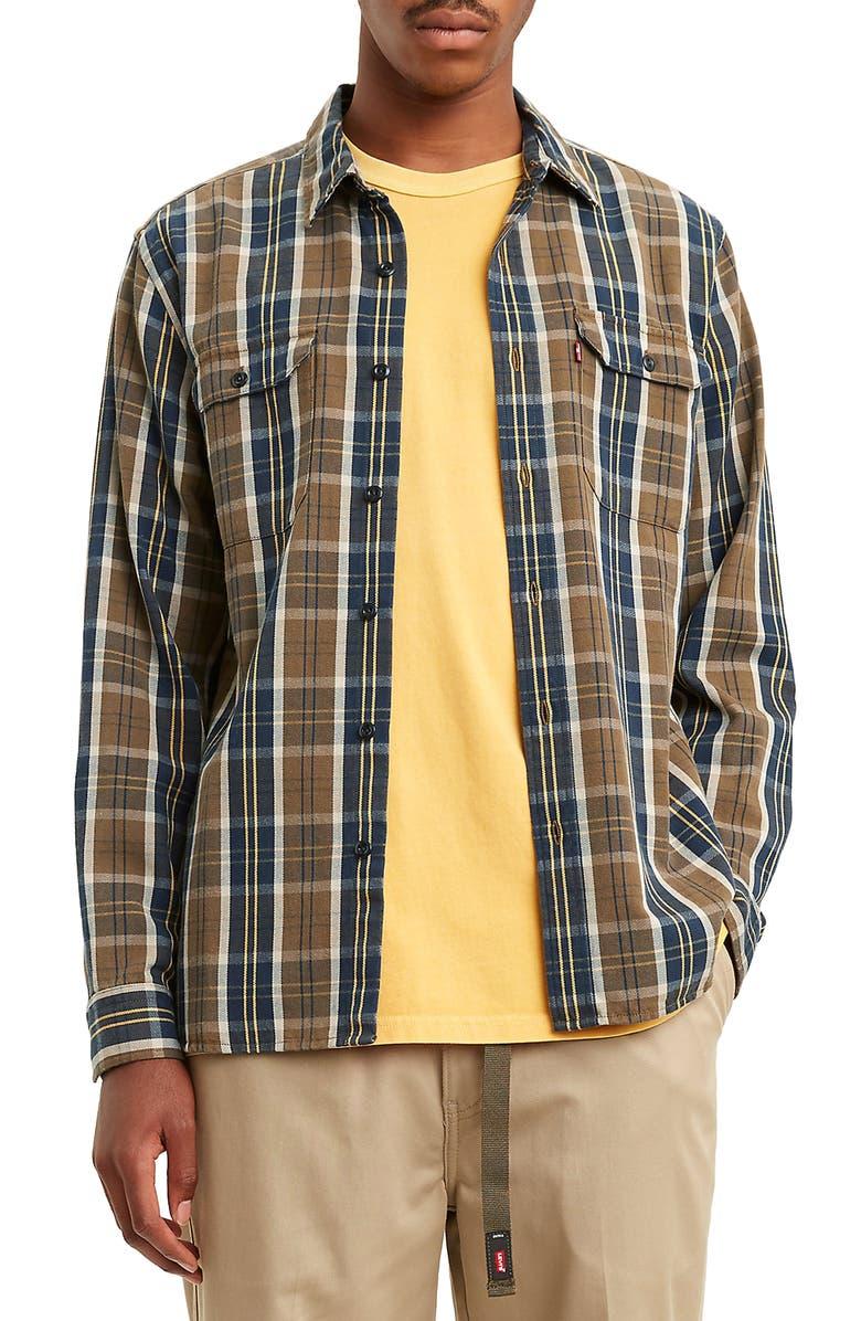 LEVI'S<SUP>®</SUP> Jackson Worker Regular Fit Plaid Button-Up Shirt, Main, color, 240