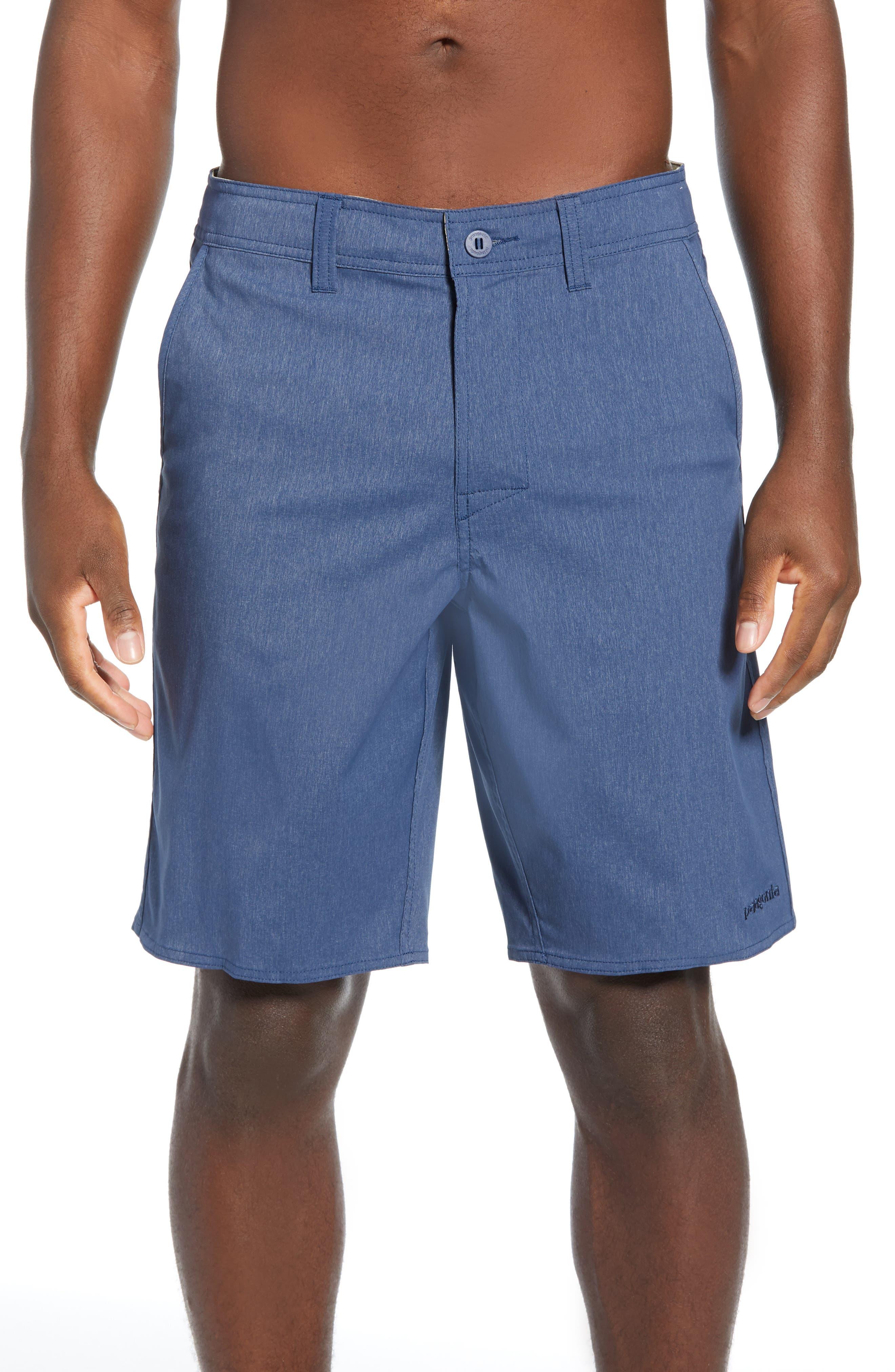 Patagonia Stretch Wavefarer Walking Shorts, Blue