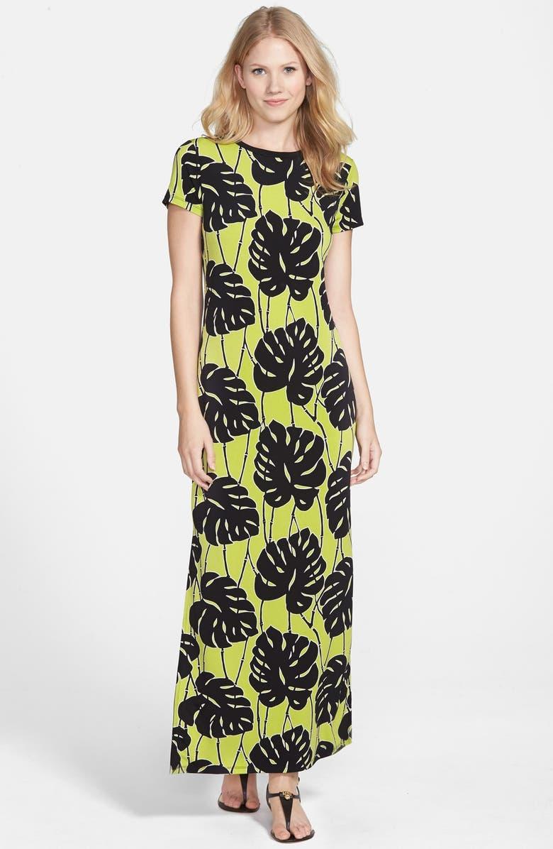 MICHAEL MICHAEL KORS 'Tropical Bay' Maxi Dress, Main, color, 357