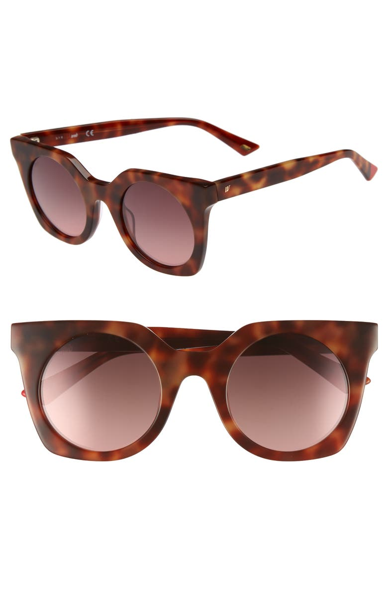 WEB 48mm Sunglasses, Main, color, BLONDE HAVANA/ GRADIENT