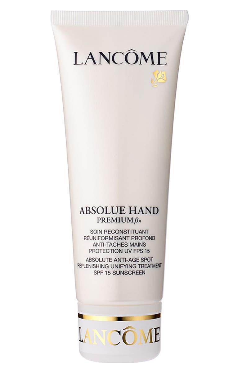 LANCÔME Absolue Premium Bx Hand SPF 15 Sunscreen, Main, color, NO COLOR