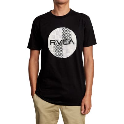 Rvca Motors Mix Logo Graphic T-Shirt, Black