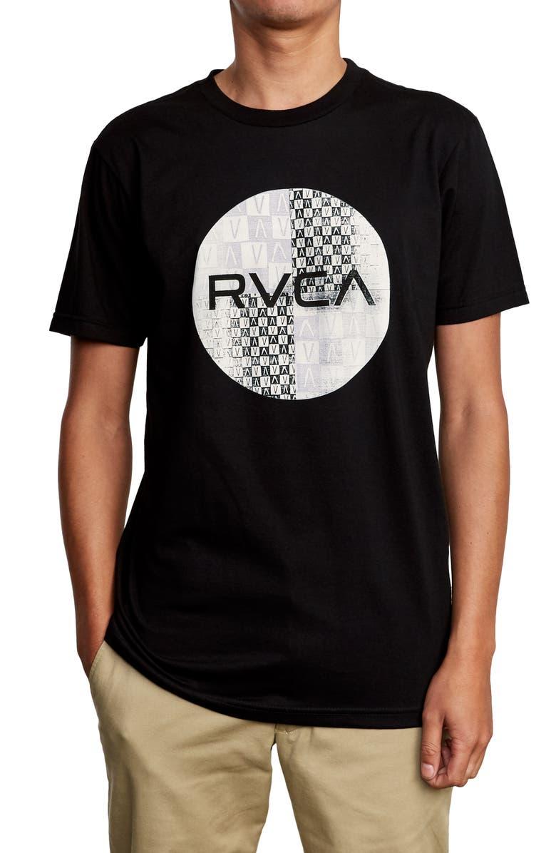 RVCA Motors Mix Logo Graphic T-Shirt, Main, color, BLACK