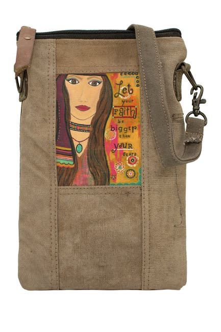 Image of Vintage Addiction Faith Bigger Than Fear Tent Crossbody Bag