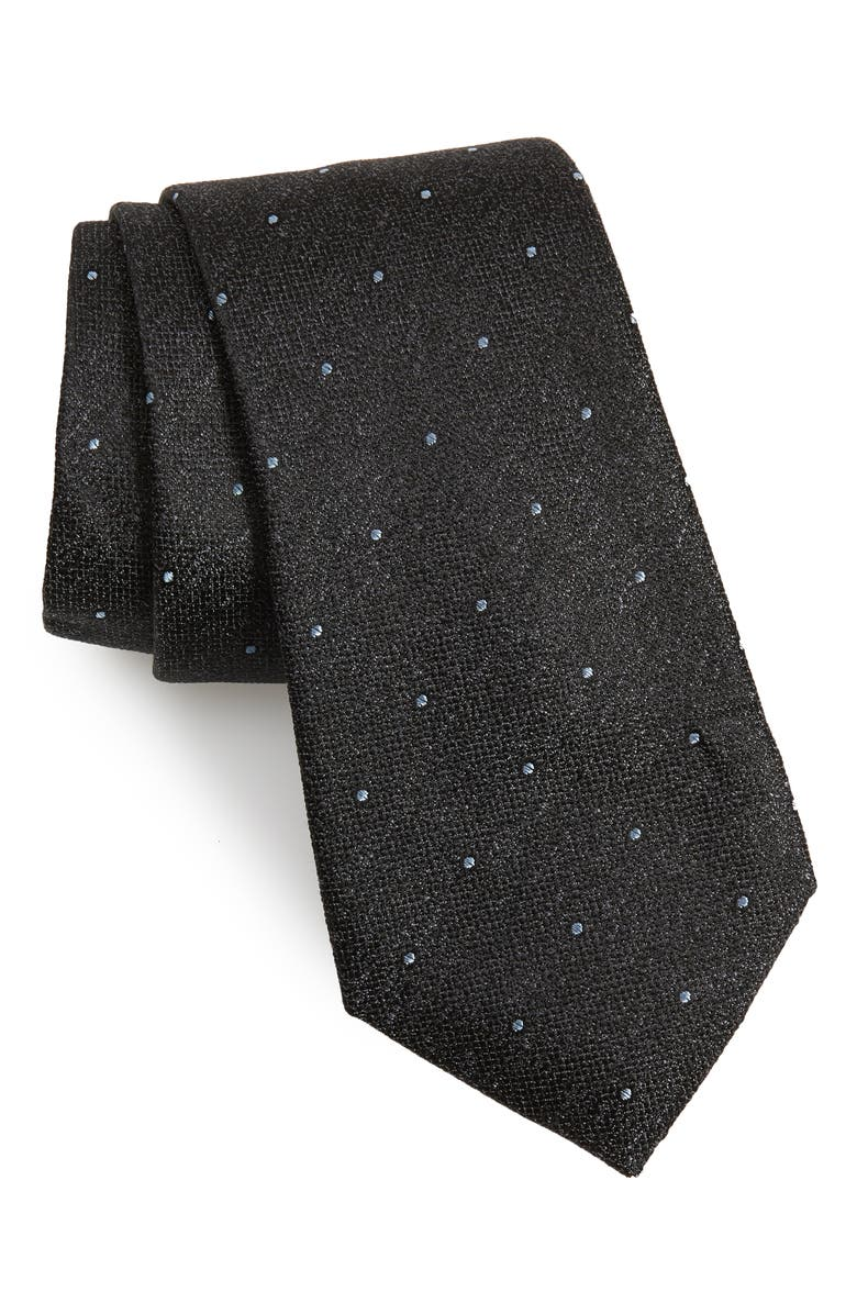 CALIBRATE Mangan Dot Silk Tie, Main, color, 001
